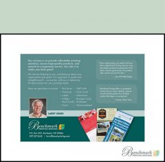 Postcards are an economical way to reach out to customers.  Whether sending to existing or potential customers, Benchmark Printing Services will make sure your message is loud and clear.
